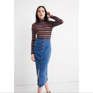 Madewell Stretch Denim Midi Skirt
